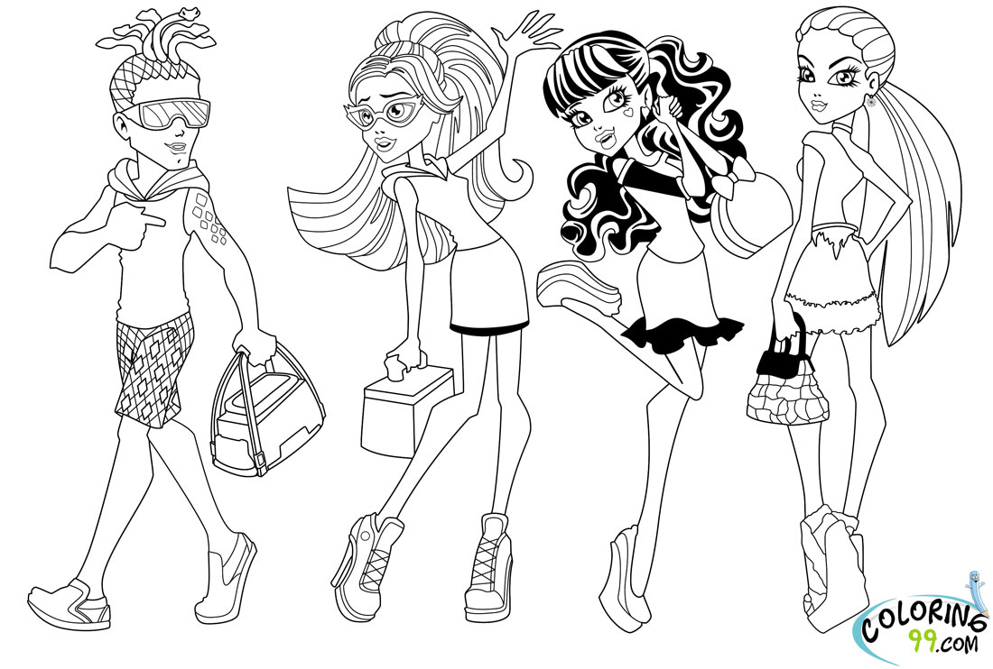 Ausmalbilder Monster High Jinafire : Monster High Coloring Pages Scaris